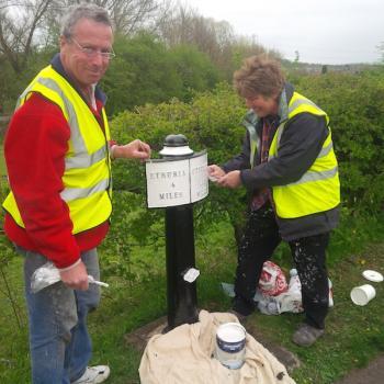 Caldon milepost painting