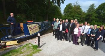 NB Beatrice leaves the new access point at Cheddleton