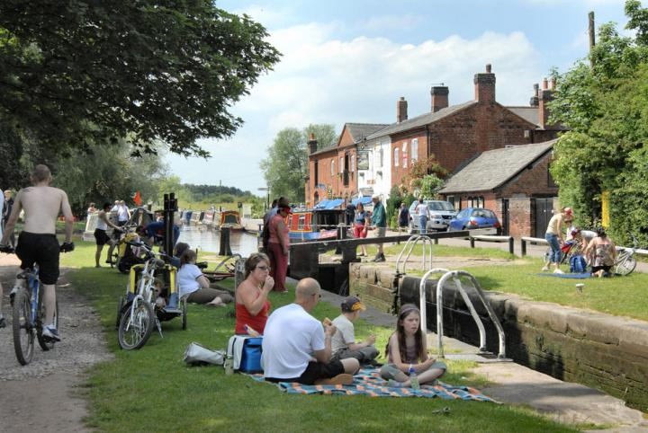Fradley Junction, where the Trent & Mersey and Coventry Canals meet near Lichfield, Staffordshire. © Waterway Images