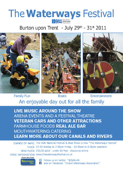 Waterways Festival 2011 poster