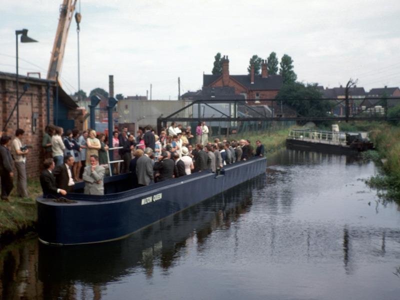 Milton Queen launch event, with the Maid in the background - 2nd July 1973