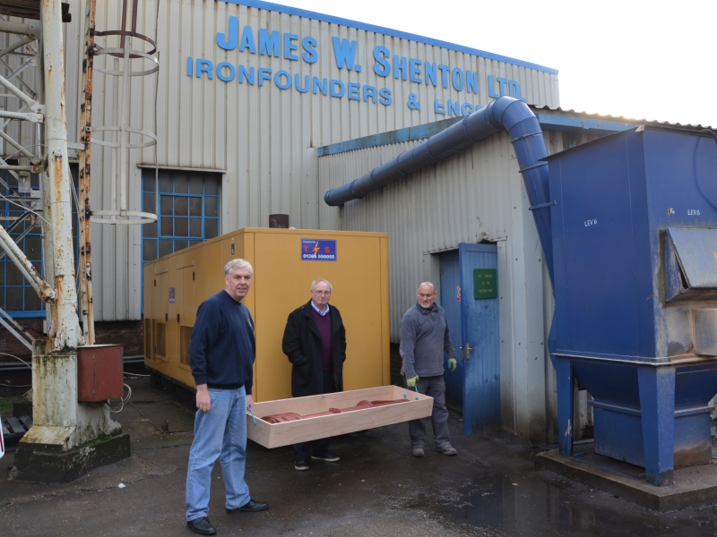Delivering the pattern to James Shenton Ltd, 27th November 2014
