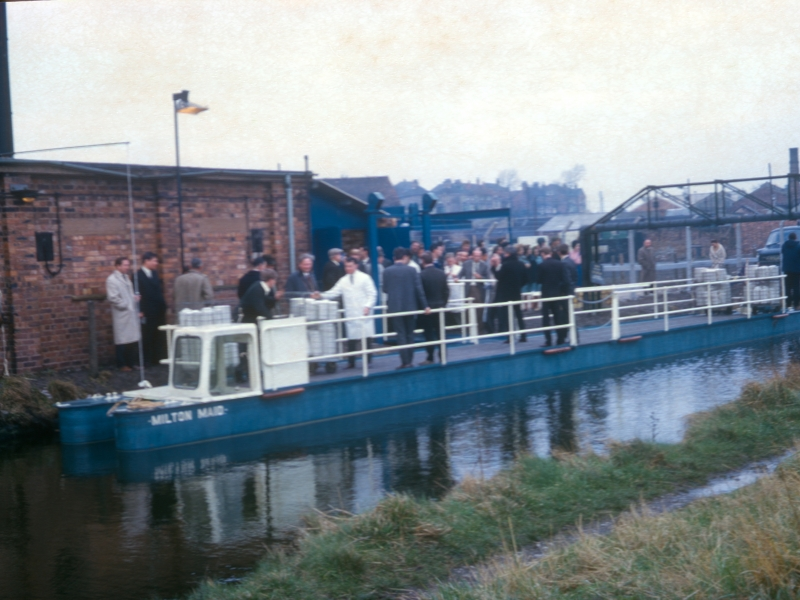 Milton Main launch in 1965. Note the original steering position. This was later removed.